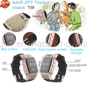 Newest Adult GPS Tracker Watch with SIM Card (T59) pictures & photos