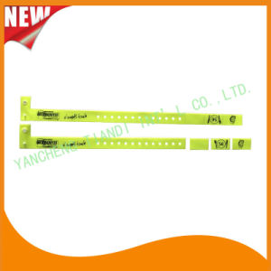 Vinyl Entertainment 3 Tab Plastic Wristbands ID Bracelet Bands (E6070-3-17) pictures & photos
