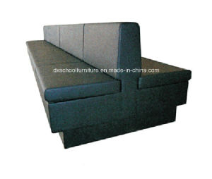 Black Color Restuarant Three-Seater Booth Sofa pictures & photos