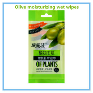 Olive Perfume Organic Cotton Non-Woven Wet Wipe pictures & photos