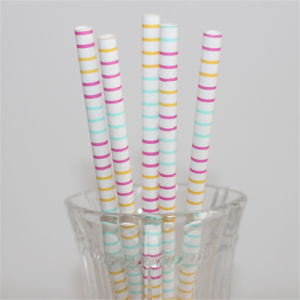 Colorful Paper Drinking Straws for Party Decoration pictures & photos