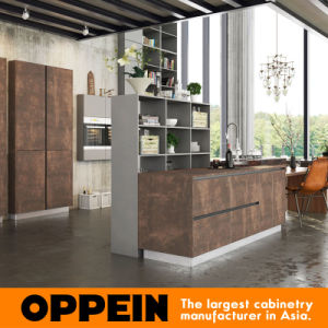 Oppein Luxury Wood Kitchen Cabinet with Sintered Surface Finish (OP16-SIN01) pictures & photos