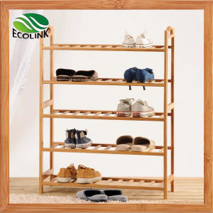 Bamboo Shoes Rack / Bamboo 5 Layers Rack pictures & photos