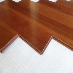 Chocalate Color Prefinished Stained Taun Hardwood Flooring pictures & photos