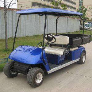 2 Seats Electric Colorful Golf Carts with Cargo Box (Du-G4L) pictures & photos
