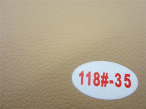 High Quality Pegamoid Anti-Abrasion PVC Leather for Living Room Furniture pictures & photos