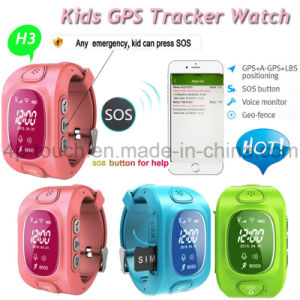 Sos Safety GPS Tracker Watch Phone with Real-Time Location H3 pictures & photos