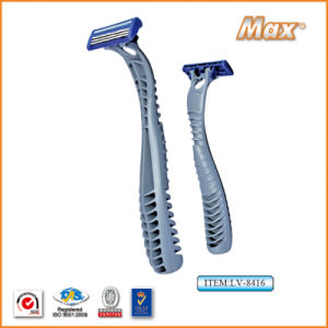 Triple Blade Stainless Steel Blade Disposable Shaving Razor (LA-8416) pictures & photos
