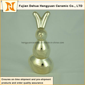 Ceramic Figurine Easter Gift Porcelain Sculpture Gift Home Decor Rabbit Shape pictures & photos