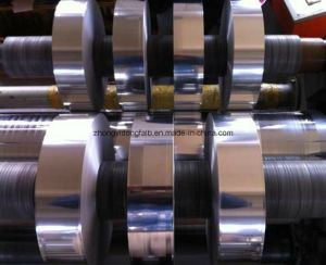 Bonded Double-Side /Single Side Aluminum Foil Mylar Adhesive Tape for Coxial Cable (bonded al-pet emaa) pictures & photos