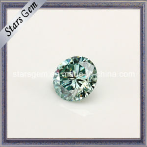 Light Blue Diamond Cut Round Moissanite pictures & photos