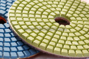 "4"" Professional Diamond Wet Polishing Pads for Stone pictures & photos"
