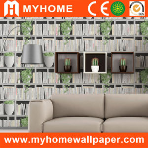 Bookshelves Wallpaper for Home Decoration pictures & photos