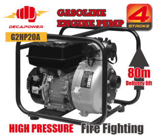 2 Inch Portable High Pressure 80m Lift H. Fire Fighting Gasoline Power Water Pump