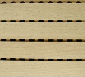 Excellent Sound-Absorbing Performance Veneer Wooden Grooved Acoustic Panel pictures & photos