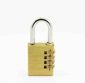 38mm Heavy Duty Padlock Brass Combination Lock W/4 Dials Code Lock pictures & photos