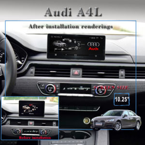 "10.25""Anti-Glare Carplay Car DVD Players for  Audi A4 B9 GPS Navigation WiFi Connection, DAB Hualingan pictures & photos"