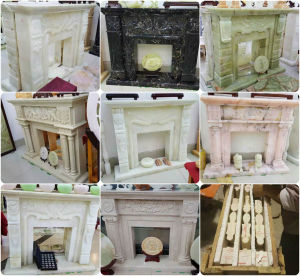 Marble Statuary Fireplace, Fire Surround, Mantel-QS pictures & photos