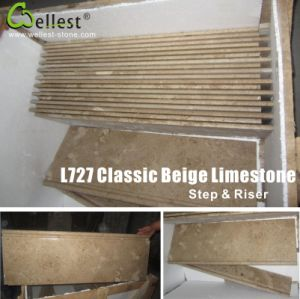 Classic Beige Limestone Step/Stairs/Treads pictures & photos