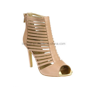 Two Colors of Ladies Leather Women Sandals pictures & photos