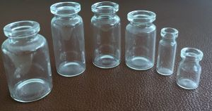 Tubular Pharmaceutical Clear Glass Bottle