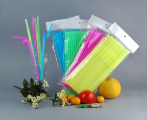 Colorful Straws Extra Long Flexible Bendy Disposable Plastic Drinking Straws pictures & photos