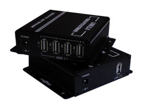 USB2.0 Extender Over Fiber Max Distances up to 300m Built-in 4-Port USB Hub (HFE2100) pictures & photos