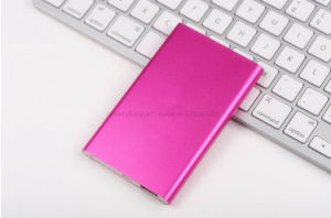 Ultra Slim Metal 4000mAh USB Charger Power Bank pictures & photos