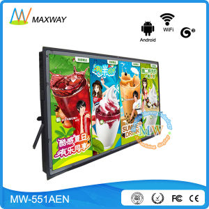 Network Android 55 Inch LCD Digital Signage Advertising Screens Equipment pictures & photos