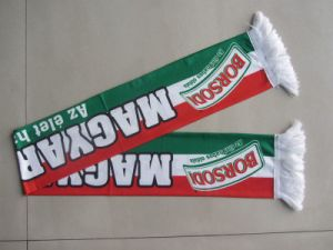 Wholesale Custom Polyester Printed Knitted Satin Football Fan Scarf pictures & photos