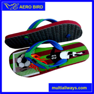 Hot New Football Print Flip Flops Slipper pictures & photos
