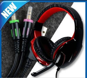 Gaming 3.5mm in-Line Volume Control Headset with Microphone pictures & photos