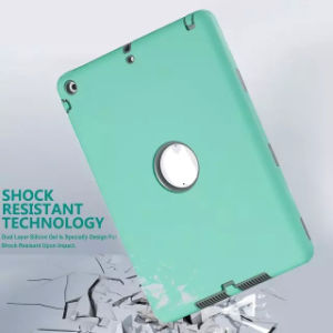 Shock-Absorption Three Layer Armor Defender Tablet Case for iPad pictures & photos