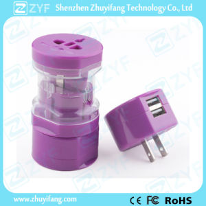 Portable Dual USB Universal Travel Electric Power Adapter (ZYF9006) pictures & photos