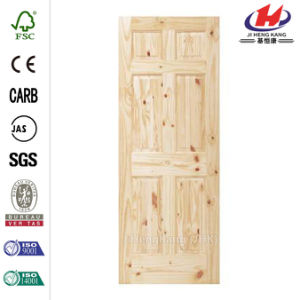 30 in. X 80 in. 6-Panel Pine Unfinished Door Slab pictures & photos