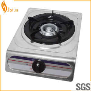 Stainless Steel Single Cast Iron Burner Gas Cooker Jp-101 pictures & photos