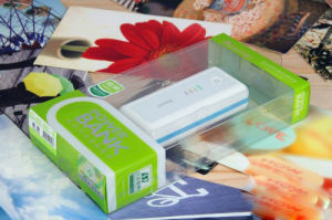 Custom Plastic Packaging Power Bank Folding Box (PP printed box) pictures & photos
