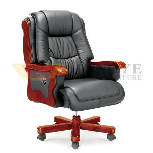 Soft Seating Armrest Office Executive Wooden Chair (HY-NNH-A12) pictures & photos
