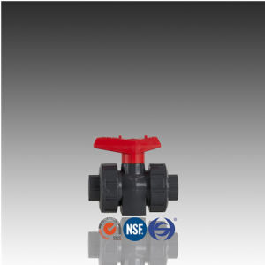 DIN ISO Standard PVC Ball Check Valve with Threaded Union pictures & photos
