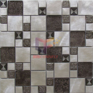 Latest New Design Aluminium Mixed Glass and Steel Mosaic (CFM996) pictures & photos