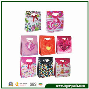 Popular Exquisite Colorful Paper Gift Bag with Die Cut pictures & photos