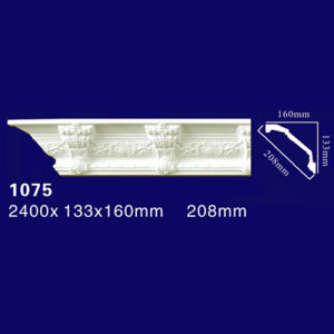 1075 Professional Manufacturer PU Mouldings Can Be Painted Crown Moulding