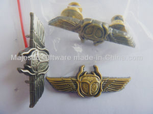 Zinc Die Cast Antique Metal Plating Wing Pin pictures & photos