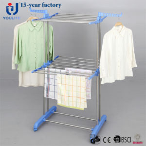 Stainless Steel Two Layer Clothes Drying Rack pictures & photos