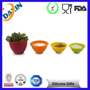 Hot Selling Silicone Collapsible Bowl Cup with Lid pictures & photos