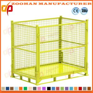 Industrial Stackable Folding Steel Warehouse Storage Wire Mesh Cage (Zhra28) pictures & photos