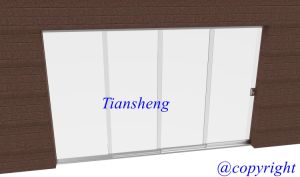 Customized High Quality Frameless Sliding Door with Toughed Glass pictures & photos