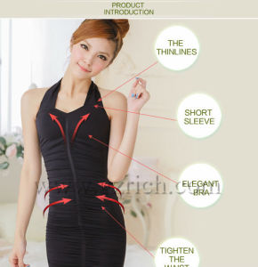 Germanium Halter Neck Slimming Top, Slimming Vest for Women pictures & photos