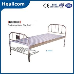 Hospital Furniture Stainless Steel Medical Flat Bed pictures & photos