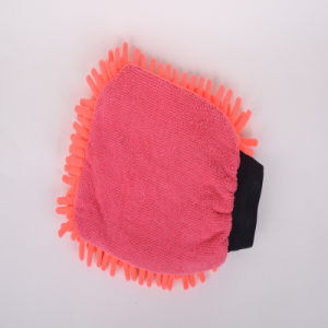 Red, Ultra-Fine Fiber Cleaning Protective Gloves